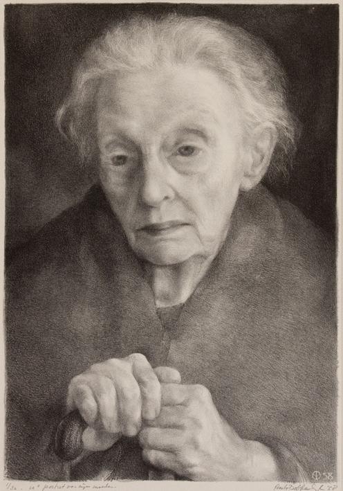 09 1125 aart van dobbenburgh 10e portret van mijn moeder 1958 0