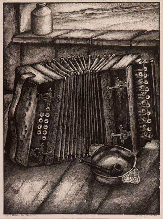 1061  Aart van Dobbenburgh | Stilleven harmonica 1927 2