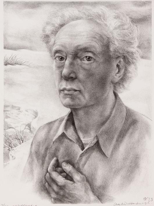 1073 Aart van Dobbenburgh |5e zelfportret 1973 3