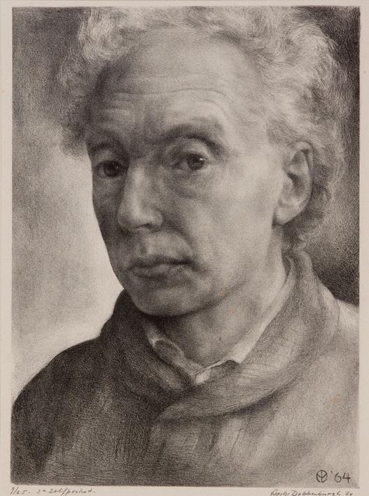 1075 Aart van Dobbenburgh | 3e zelfportret 1964 5