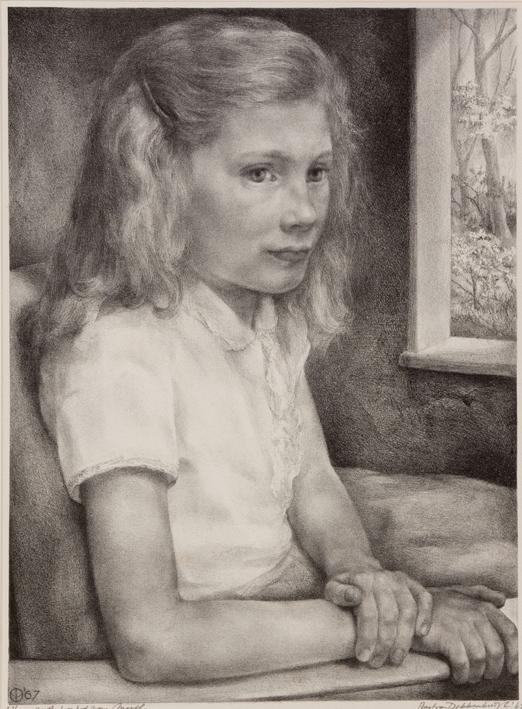 1083 Aart van Dobbenburgh | 29e  portret van Marthy 1967 2