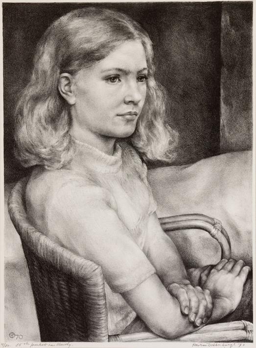 1094 Aart van Dobbenburgh 35e portret van Marthy 1970 2
