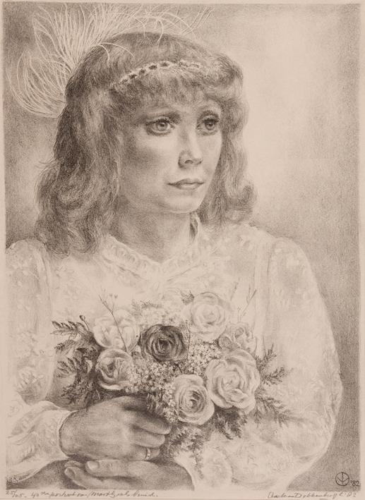 1096 Aart van Dobbenburgh 40e portret van Marthy 1981 0