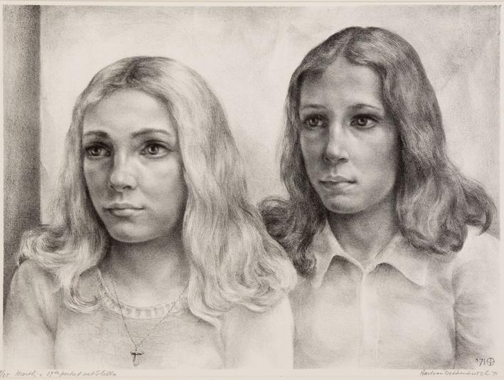 1098 Aart van Dobbenburgh 37e portret van Marthy met Stella 1971 5
