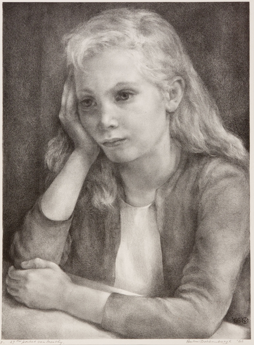 1099 Aart van Dobbenburgh | 27e portret van Marthy 1966 3