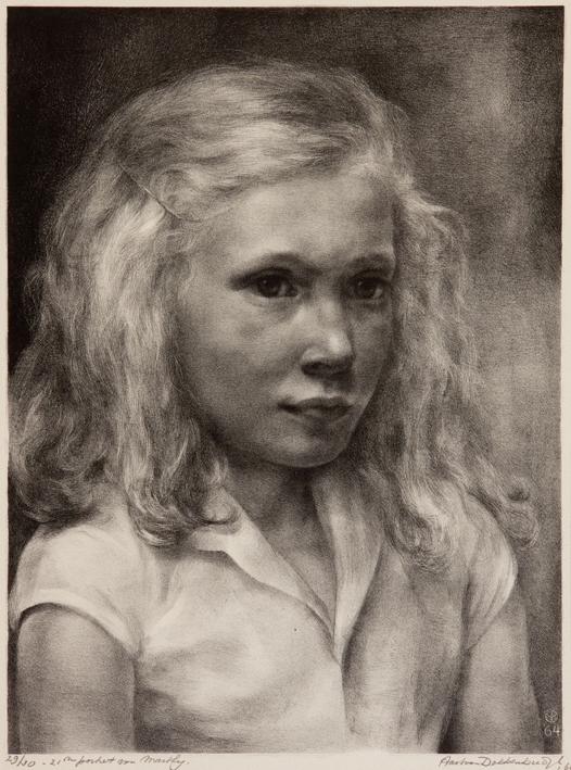 1101 Aart van Dobbenburgh | 21e portret van Marthy 1964 1