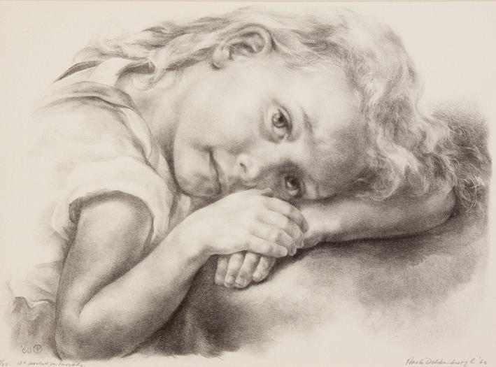 1107 Aart van Dobbenburgh | 13e portret van Marthy 1960 6