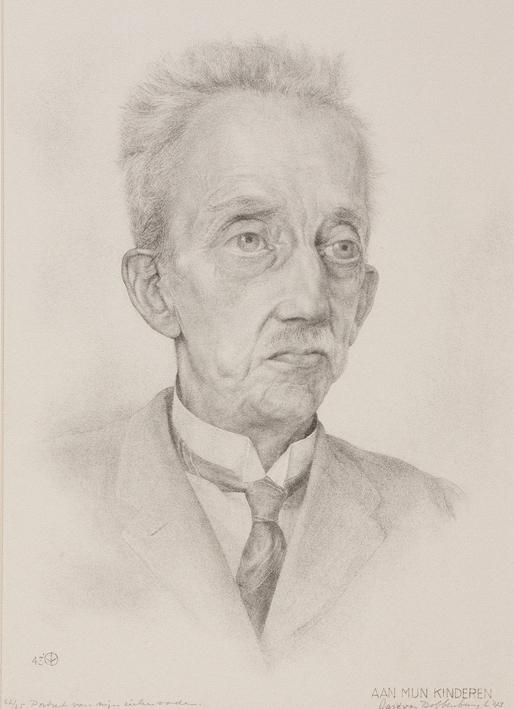 1109 Aart van Dobbenburgh | Portret van mijn zieke vader 1943 2