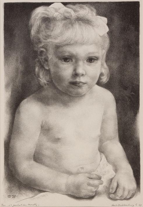 1113 Aart van Dobbenburgh | 3e portret van Marthy 1957 4  1957 5