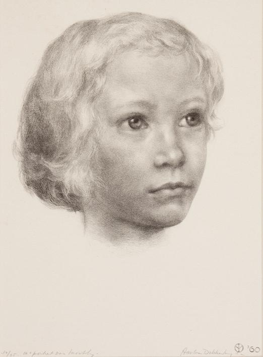 1121 Aart van Dobbenburgh | 10e portret van Marthy 1960 2