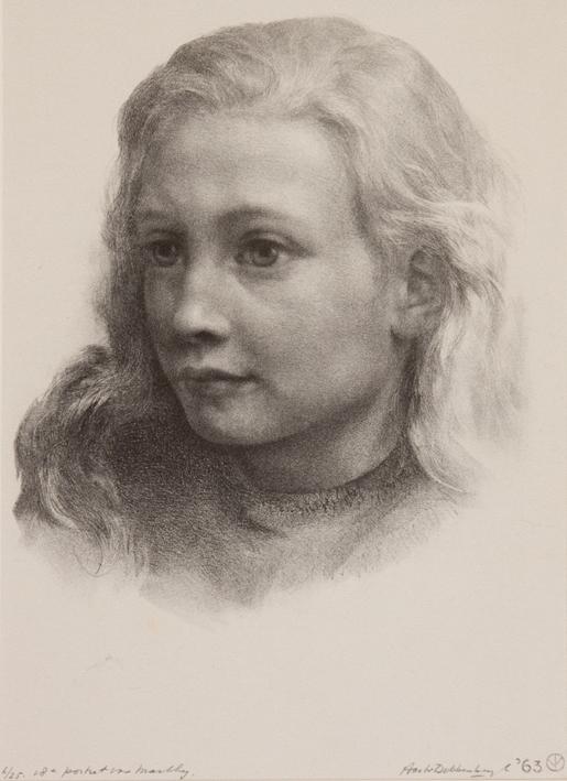 1122 Aart van Dobbenburgh | 18e portret van Marthy 1963 1