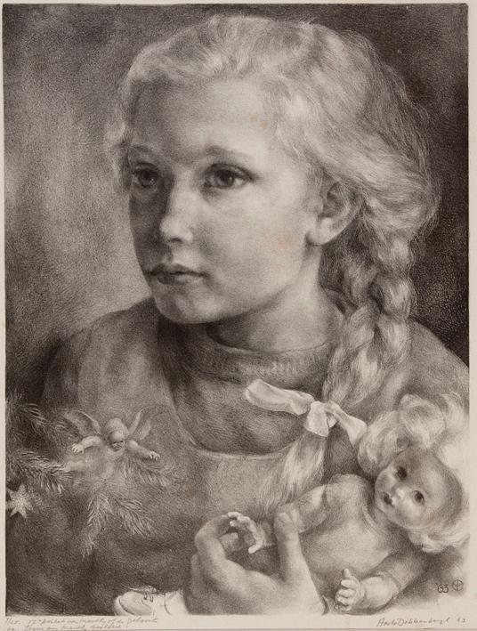 1124 Aart van Dobbenburgh | 17e portret van Marthy 1963 0