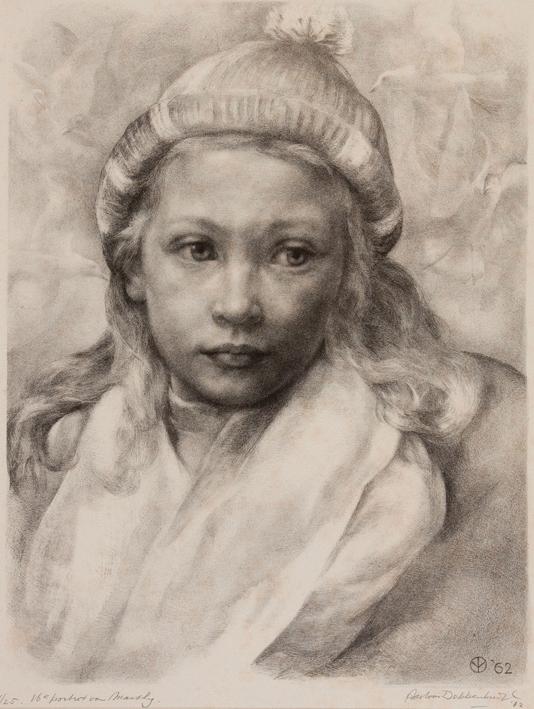 1131 Aart van Dobbenburgh | 16e portret van Marthy 1962 5