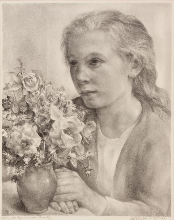 1135 Aart van Dobbenburgh | 24e portret van Marthy 1965 3  1965 4