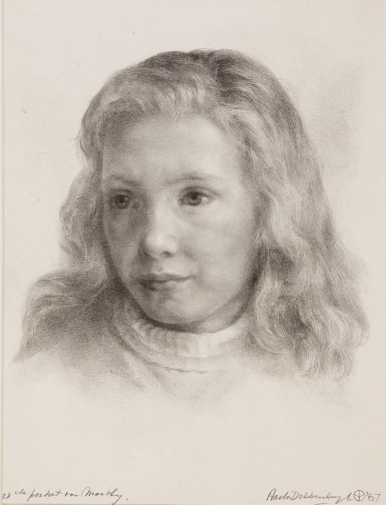 1136 Aart van Dobbenburgh | 28e portret van Marthy 1967 0