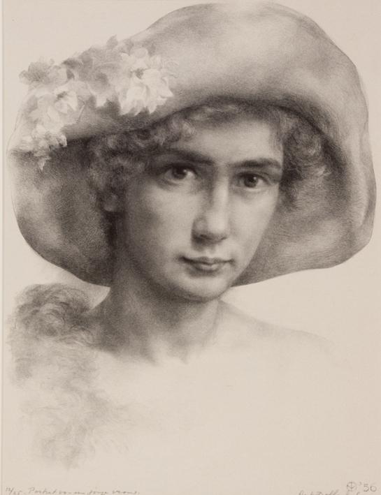 1143 Aart van Dobbenburgh | Portret van een jonge vrouw 1956 2