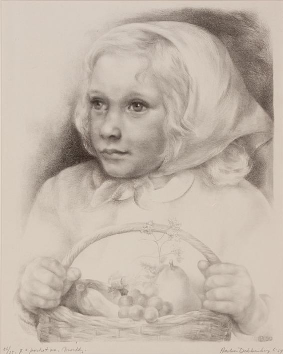 1145 Aart van Dobbenburgh | 7e portret van Marthy 1959 3