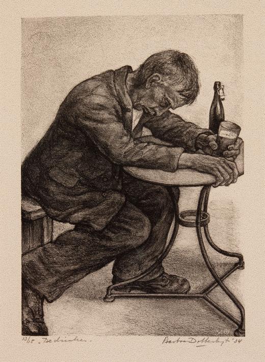1162 aart van dobbenburgh De drinker. 1934