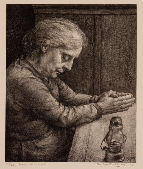 1164 Aart van Dobbenburgh |biddende vrouw 1934 6