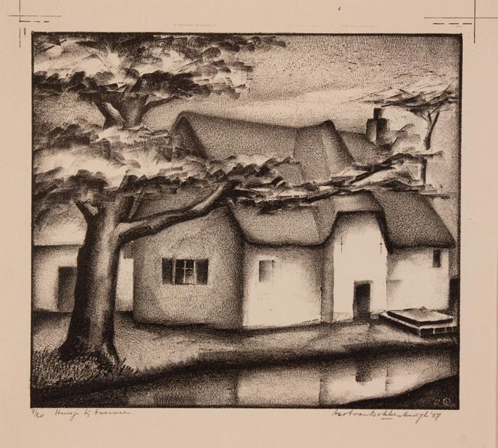 1168 Aart van Dobbenburgh | Huisje bij overveen 1927 5