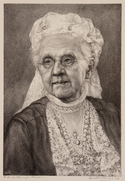 1177 Aart van Dobbenburgh | Koningin moeder Emma 1936 2