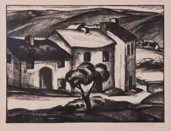 1274 Aart van Dobbenburgh | Huizen in de Ardennen 1925 0