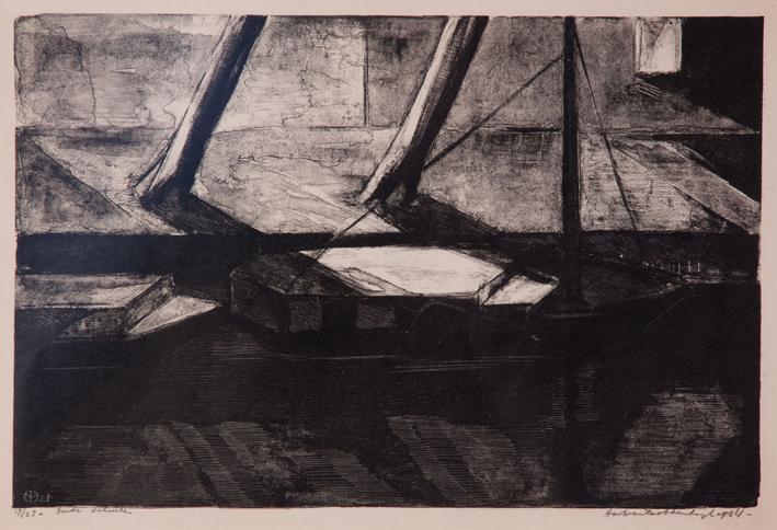 1275 Aart van Dobbenburgh |Oude schuiten 1924 3
