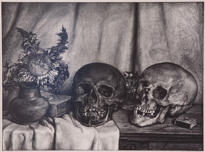1278 Aart van Dobbenburgh | Stilleven schedels 1931 2