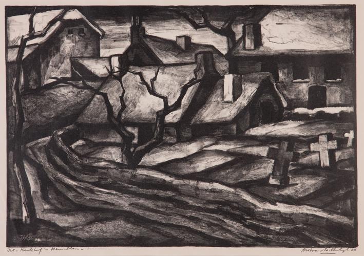 1282 Aart van Dobbenburgh | Kerkhof in Hermelo 1926 1